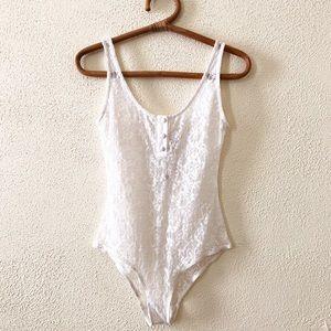NWT Nightcap White Lace Bodysuit M